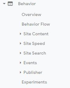 Behavior-Section-Web-Analytics